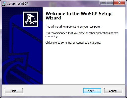 WinSCP Setup Wizard Welcome Screen